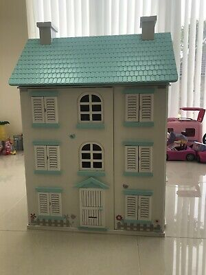 MCC Wooden Kids Doll House With Furniture & Staircase