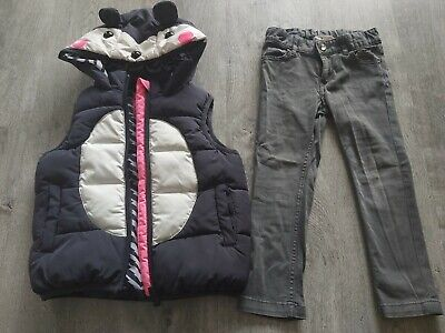 Next Bear Body warmer and H&M grey jeans both Size 3-4 Yrs