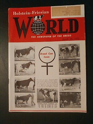 "Holstein World 1970 Brood Cow Issue +""Gray View Crisscross (Ex 96 Gm)"" +Auctions"