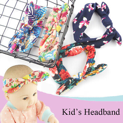 Boho Toddler Headband Ribbon Elastic Baby Headdress Hair Band Girl Bow Knot~^