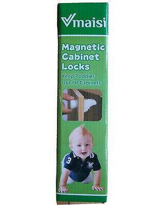 Baby Proofing Magnetic Cabinet Locks Child Safety VMAISI 12 Pack No Drilling