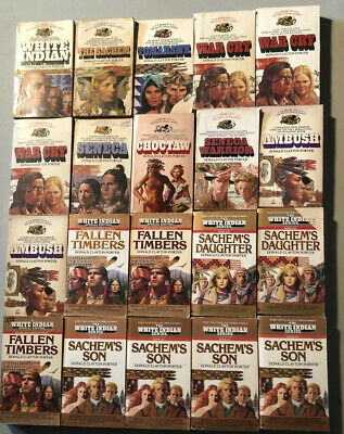 White Indian Series Books lot of 20 by Donald Clayton Porter