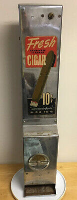 Rare Vintage 1930-40'S 10 Cent Cigar Vending Machine Made In Usa Dispenser