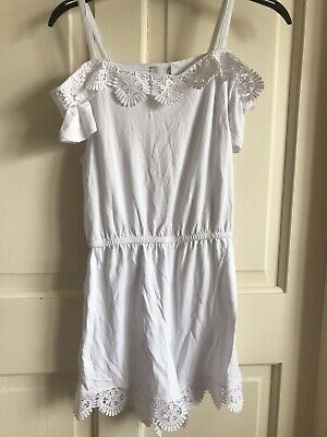 BNWOT River Island Play/ Jumpsuit. Girls. Age 5 - 12 Years. White. Lightweight.