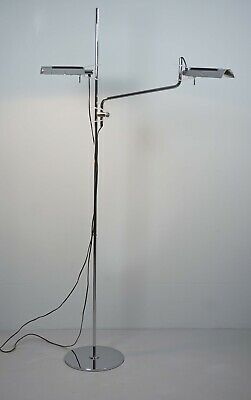 Vintage Stehleuchte TWIN 8028 Swisslamps International Floor Lamp Dimmbar 1Z