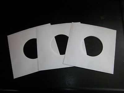 """50 ct 7""""45 RPM Paper Record Inner Sleeves/Hole for Viewing LP Album Vinyl"""