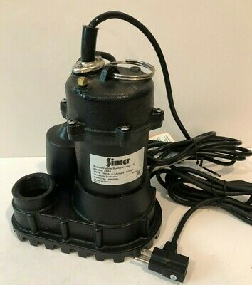 Simer 1/2 HP Cast Iron Submersible Sump Pump, Tether Switch, 4200 GPH FREE SHIP
