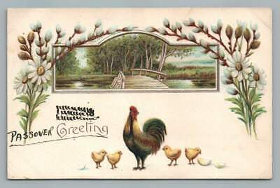 "Passover Greetings! RARE Antique Judaica Jewish ""Easter"" Postcard NYC 1909"