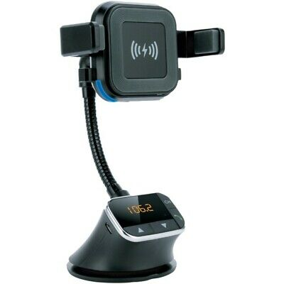 Supersonic IQ-270QI Bluetooth Qi Charging Mount and FM Transmitter