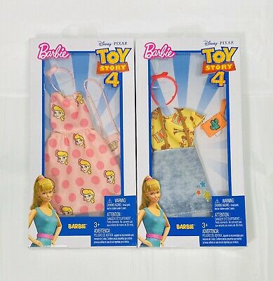 Lot Of 2 Barbie Toy Story 4 Complete Looks Fashion Packs