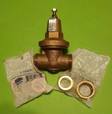 Pressure Reducing Valve 1 in. Double Union FNPT Straight Quarter-turn Brass