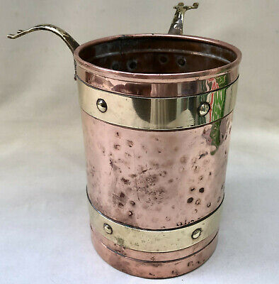 Vintage Art & Crafts Copper Bucket Possibly From A Fireplace Companion Set