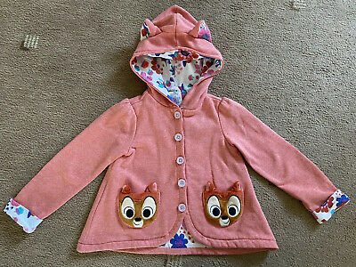 The Disney Store Girls Light Hooded Jacket With Bambi Pockets - Age 5T