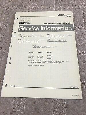 Phillips AQ6617/00/01/05/10 service Info Manual