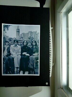 Original Photograph of the Beatles in late 1960's taken sitting on a park bench