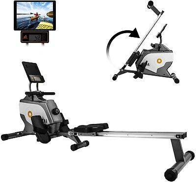 Rowing Machine Fitness Cardio Workout with Adjustable Magnetic Resistance LCD