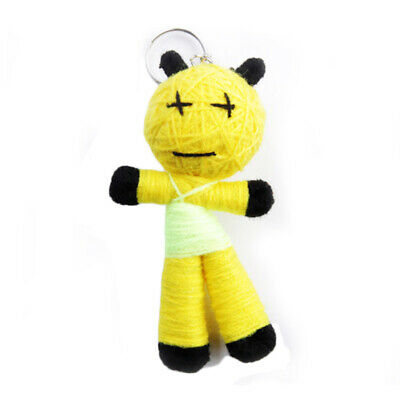 Key Ring Voodoo Doll Parrot Worry Puppet Yellow VD99