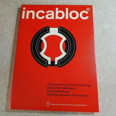 Genuine & Vintage Incabloc Catalog Book, Manual For Watchmakers And Jewellers
