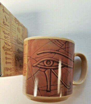 1994 Applause Stargate Movie Egyptian Coffee Mug EYE OF RA NEW IN PACKAGE