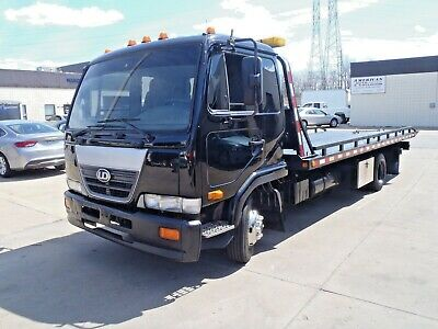 2007 Nissan Diesel UD 2000 Tow Truck Rollback Dual Vehicle Towing Flatbed Winch