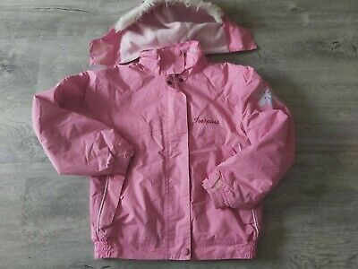 Trespass Pink Coat with detachable hood Size 9-10 Yrs