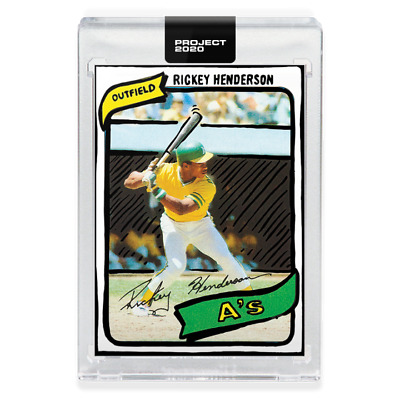 Topps PROJECT 2020 Card 14 Rickey Henderson Oakland A by Joshua Vides 1980 #482