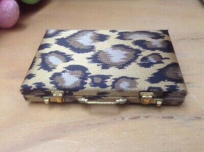 Animal Print Card Carrying Case (Shaped Like Miniature Briefcase)