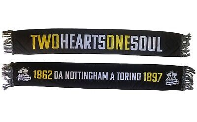 Sciarpa TWO HEARTS ONE SOUL - JUVENTUS e NOTTS COUNTY Fans Supporters Football