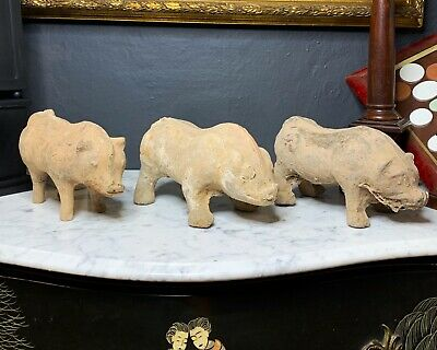 Set of Three Animal Figures Chinese Hand Dynasty Style