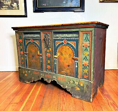 A Rare 19th Century Continental Handpainted Cupboard