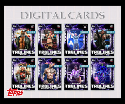 2020 TAGLINES DROP 3 COMPLETE SET OF 8 CARDS NAOMI/ASUKA+ TOPPS WWE Slam Digital