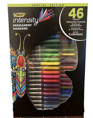 NEW BIC Intensity Permanent Marker Special Edition  Assorted 46 Colors