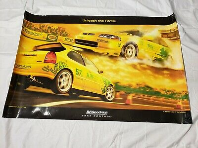 "Rare 2001 BF Goodrich Tires Jun Racing Honda Civic Promo Poster 36""×24"" USA"