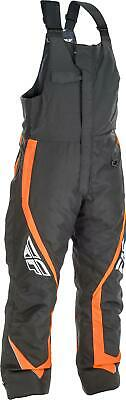 Fly Racing Outpost Bib Black/Orange (Black, XXX-Large)