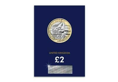 The NEW 2020 UK Captain Cook £2 BU Presentation Pack 3RD EDITION on a Blue Card