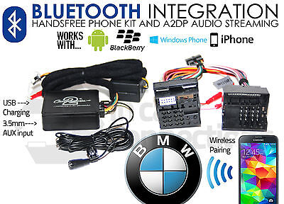 BMW Bluetooth Streaming Vivavoce Chiamate CTABMBT009 Aux USB MP3 IPHONE Samsung