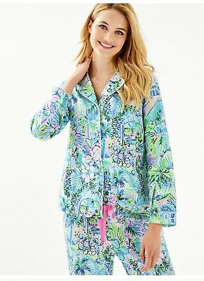 Lilly Pulitzer Multi Lillys House Pajama top NWT L