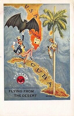 Superb Cuba Advert Card for Bacardi Rum - Early Post Card
