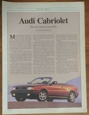 Audi Cabriolet Magazine Articles Two Collectible Convertible Car And Driver
