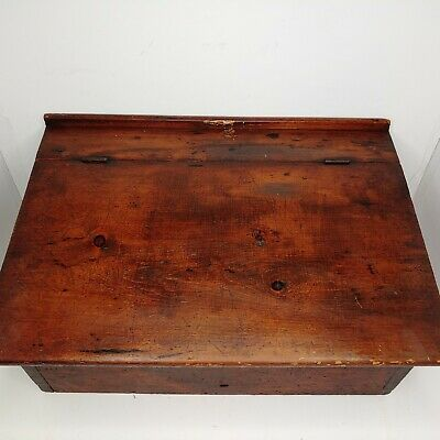 VINTAGE RARE Table Top Podium Lectern Real Wood Portable Old Antique AMAZING
