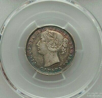 1858 Canada Victoria Silver 20 Cents Pcgs Xf-Details (Edge Repaired) Km4