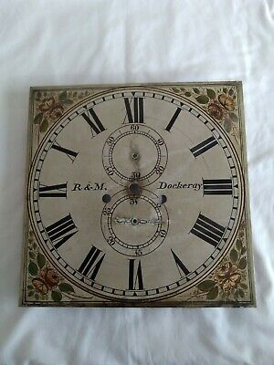 Antique Longcase Grandfather 8 Day Clock Face