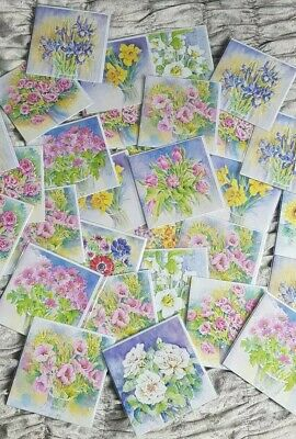Job Lot Of Flower Greeting Cards Brand New!!
