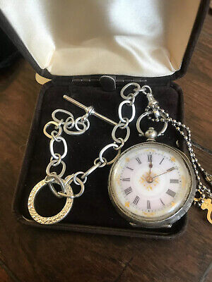 Stunning Antique c1800s Solid Silver Pocket - Fob Watch. WORKING Perfectly