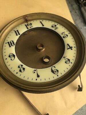 Victorian Ornate Clock Bezel Dial And Glass