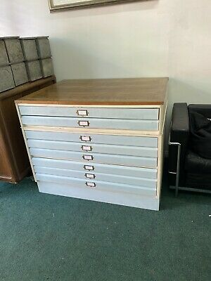 Solid Wooden Drawing Plan Chest Free Delivery.
