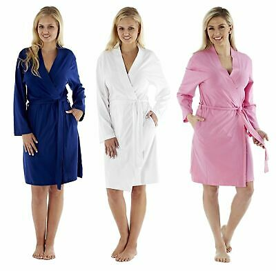 i-Smalls Ladies Robe Yarn Dyed Jersey Cotton Striped Bathrobe for All Seasons