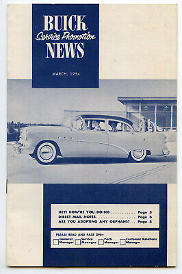 BUICK Service Promtion Newsj Vintage March 1954 Booklet