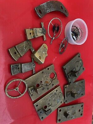 Old Platform Escapement Clock Parts Useful Hair Spring And Wheels