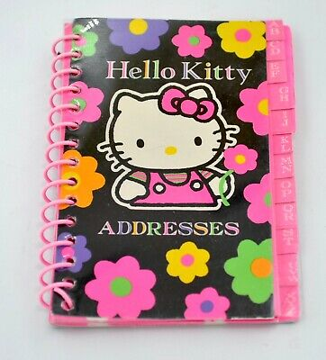 Vintage Sanrio Hello Kitty Mod Flower Address Book*1992 Korea*Unused